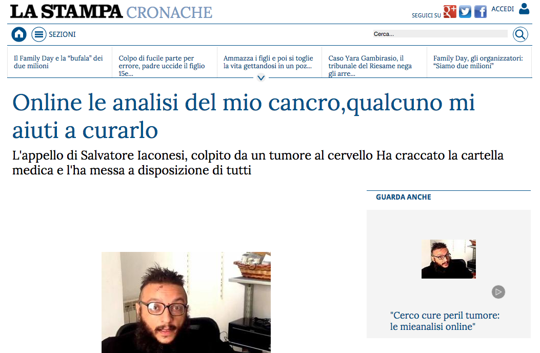 La Cura on La Stampa